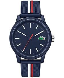 Men's Swiss 12.12 Blue Silicone Strap Watch 42mm