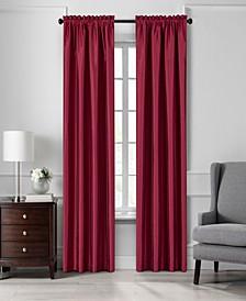 """Colette 52"""" x 108"""" Faux Silk Blackout Curtain Panel"""