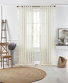 """Bella 52"""" x 84"""" Sheer Ruffle Curtain Panel"""