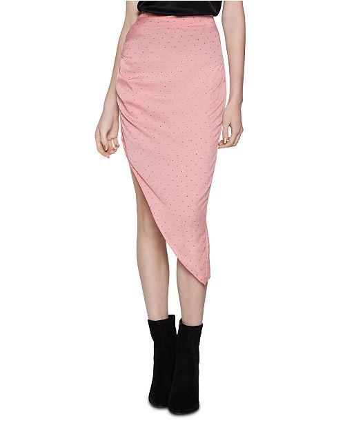 BCBGeneration Ruched Asymmetrical Skirt