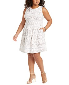 Plus Size Lace Fit & Flare Dress