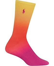 Women's Rainbow Dip-Dye-Print Crew Socks