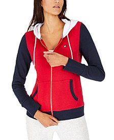Colorblocked Zip-Neck Hoodie