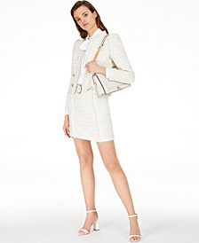 INC Tweed Jacket, Bow-Tie Blouse & Belted Tweed A-Line Skirt, Created for Macy's