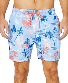 "Men's Island Print 6"" Swim Trunks, Created for Macy's"
