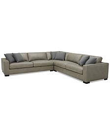 "Chelby 3-Pc. Leather ""L"" Shaped Sectional Sofa"