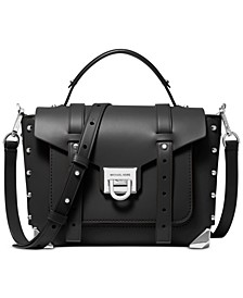 Small Top Handle Leather School Satchel