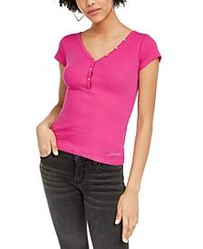 V-Neck Henley T-Shirt