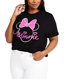 Hybrid Trendy Plus Size Minnie Neon-Outline T-Shirt, Created For Macy's