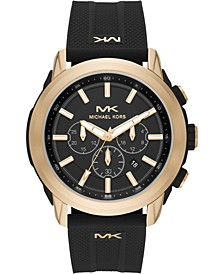 Men's Chronograph Kyle Black Silicone Strap Watch 48mm