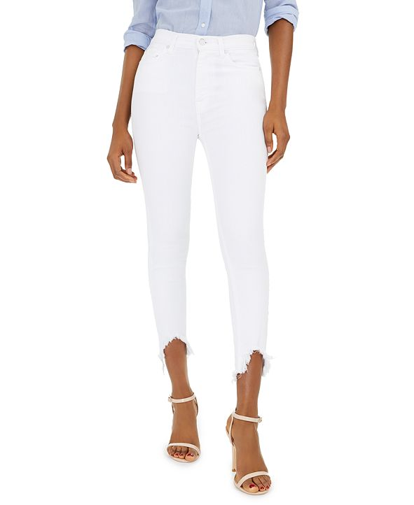 7 For All Mankind Ankle Skinny with Wave Hem Jeans