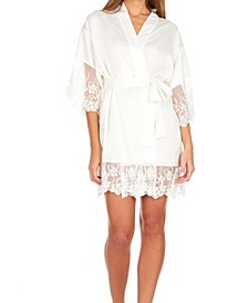 Farrah Charmeuse Wrap Robe