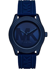 Women's Maddye Blue Logo Silicone Strap Watch 43mm