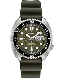 Men's Automatic Prospex King Turtle Green Silicone Strap Watch 45mm - A Special Edition