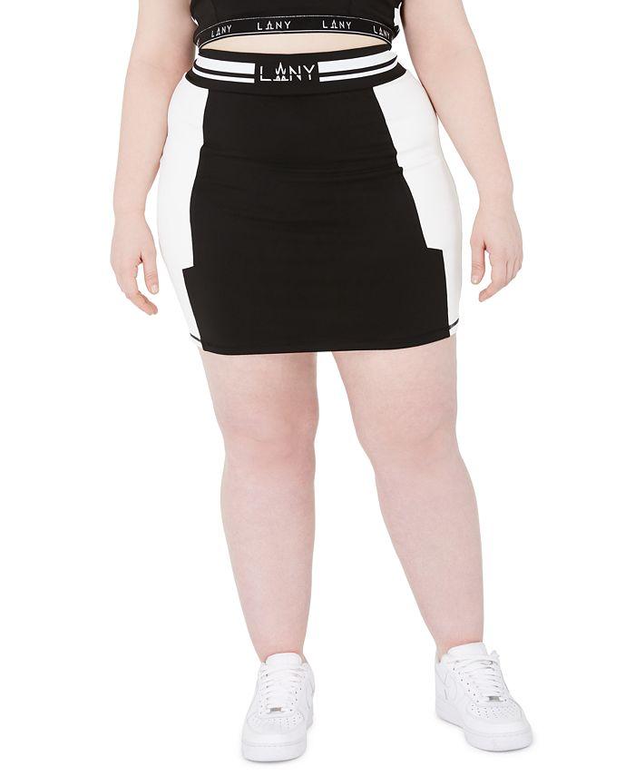 Lala Anthony - Trendy Plus Size High-Waist Stretch Jersey Skirt
