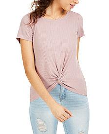 Hippie Rose Juniors' Twisted T-Shirt
