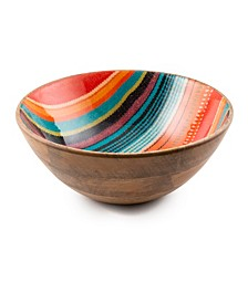 Serape Wood & Enamel Bowl