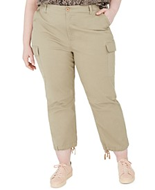 Trendy Plus Size Cropped Cargo Pants