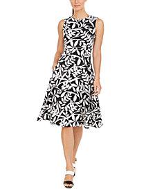 Calvin Klein Floral-Print Midi Dress