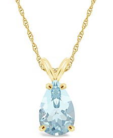 Aquamarine (2-5/8 ct. t.w.) Pendant Necklace in 14K Yellow Gold