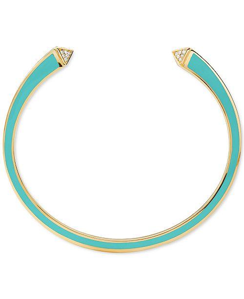 Michael Kors Sterling Silver Pavé Cuff Bracelet