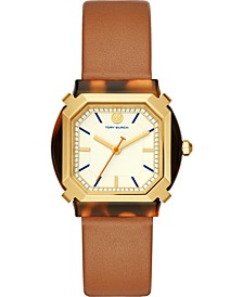 Women's Blake Brown Leather Strap Watch 34mm