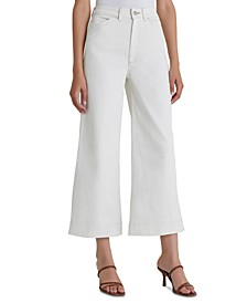 Rosie Cropped Wide-Leg Jeans
