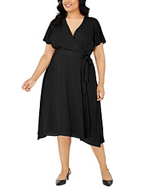 Plus Size Midi Wrap Dress, Created for Macy's