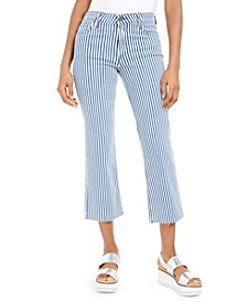 Kelsey High Rise Striped Ankle Flare