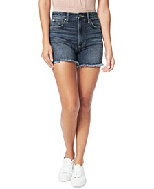 Kinsley Frayed Cotton Denim Shorts