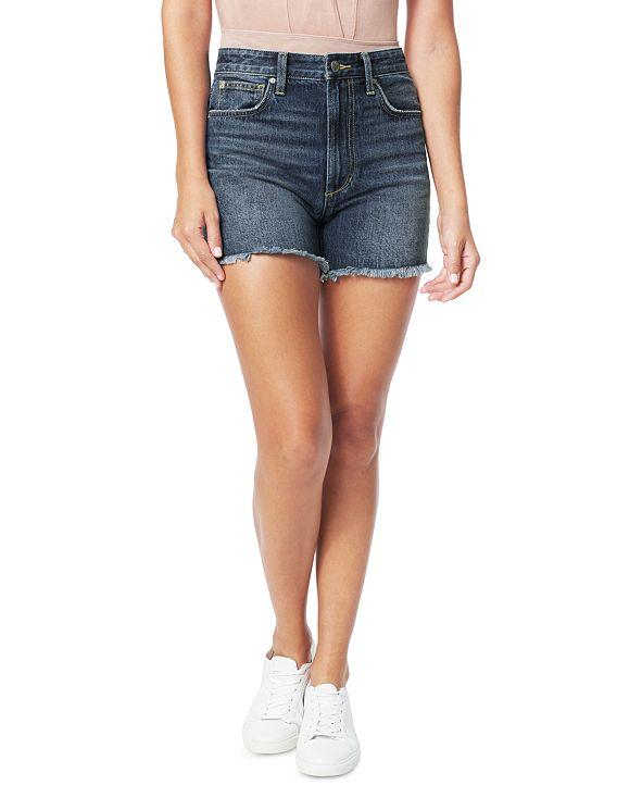 Joe's Jeans Kinsley Frayed Cotton Denim Shorts