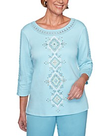 Chesapeake Bay Embroidered Crewneck Top