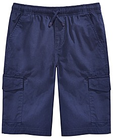 Big Boys Blue Textured Canvas Cargo Shorts, Created for Macy's