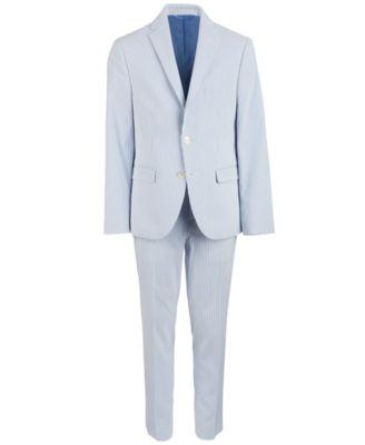 Great Guy Boys 4-pc Blue Seersucker Suit