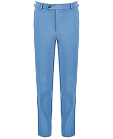 Big Boys Classic-Fit Stetch Blue Solid Dress Pants