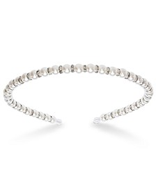 Silver-Tone Crystal & Imitation Pearl Headband, Created for Macy's