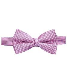 Big Boys Pink Pre-Tied Natte Silk Bow Tie