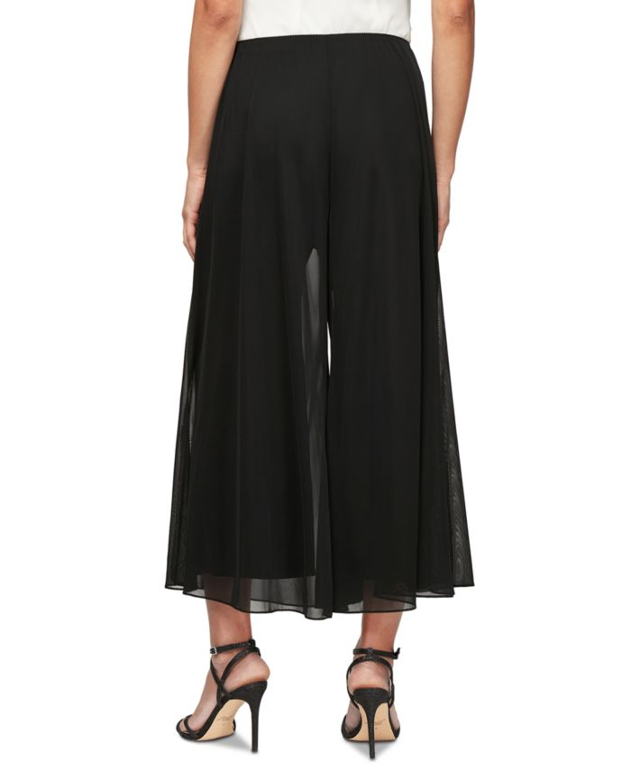 Alex Evenings Chiffon Wide-Leg Capri Pants & Reviews - Pants & Leggings - Women - Macy's
