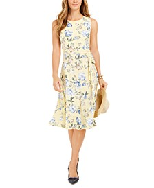 Floral-Print Midi Knit Dress, Created For Macy's