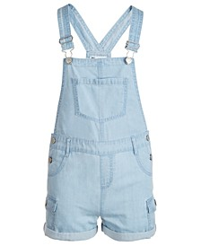 Big Girls Cotton Cargo Shortalls, Created for Macy's