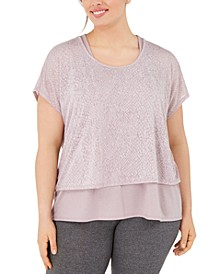 Plus Size Printed Layered T-Shirt, Created for Macy's