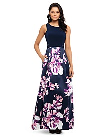 Floral-Skirt Gown