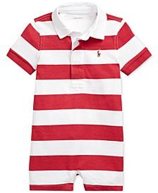 폴로 랄프로렌 남아용 럭비 우주복 Polo Ralph Lauren Baby Boys Striped Cotton Rugby Shortall