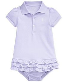 Baby Girls Ruffled Polo Dress & Bloomer