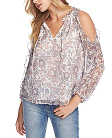 Lyrical Paisley-Ruffled Blouse