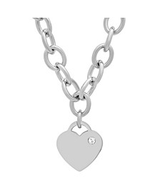 Ladies Stainless Steel Heart Charm Necklace