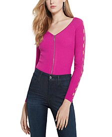 Tinash Ribbed Arm-Cutout Top