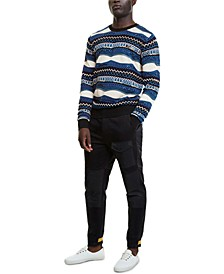 Men's Cedric Regular-Fit Geo-Stripe Sweater