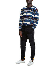 Desigual Men's Cedric Regular-Fit Geo-Stripe Sweater