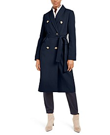 Double-Breasted Belted Water-Resistant Trench Coat